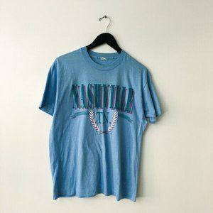 70s 80s Vintage Nashville TN Graphic Tee Shirt XL